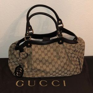 🔴 Gucci Medium Sukey Tote with black leather trim